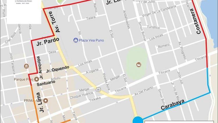 Recorrido oficial   Candelaria 2017   Perú Caporal   perucaporal.com
