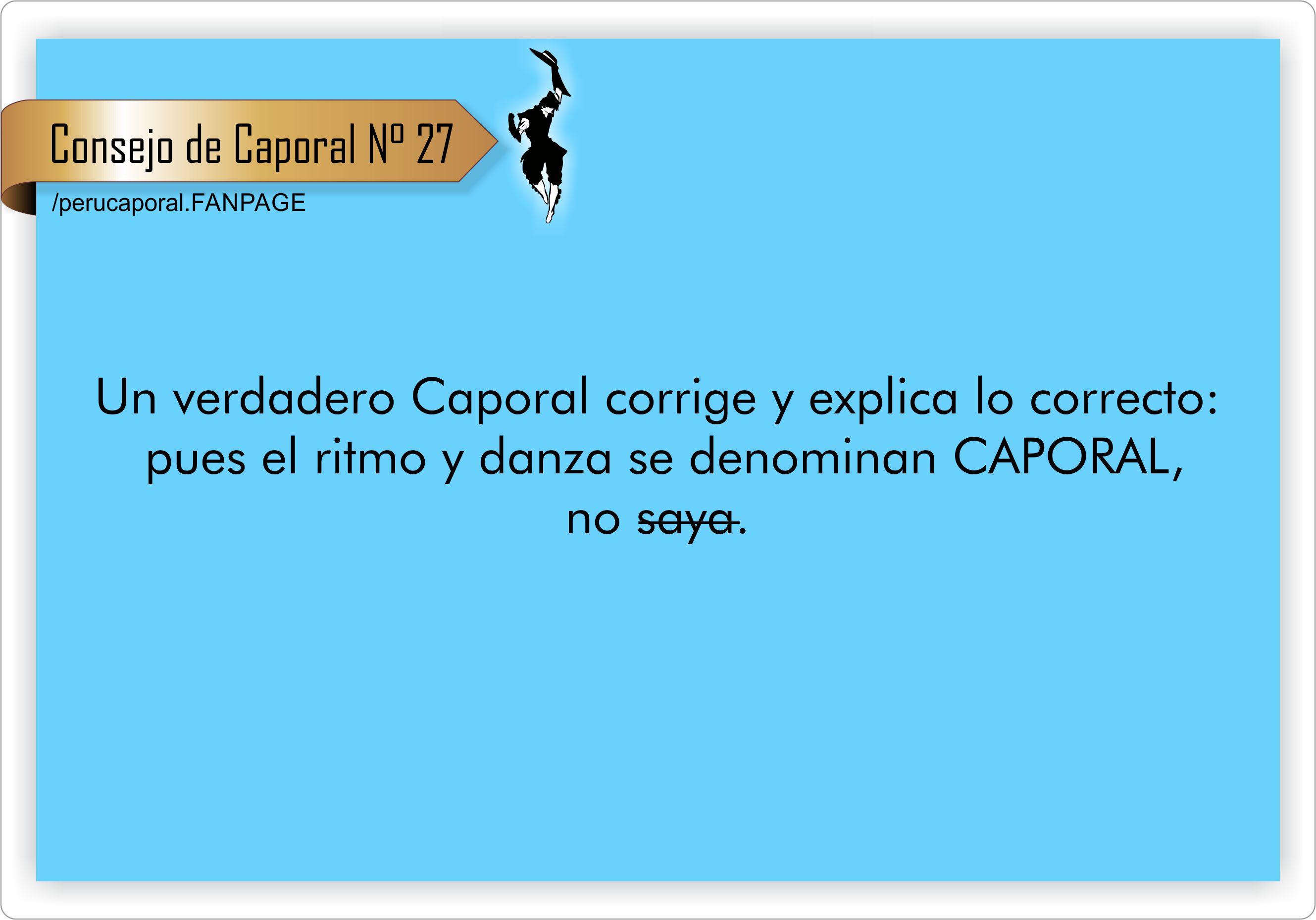 Un verdadero caporal sabe las diferencias y sabe perfectamente identificar a ambas danzas y ritmos.