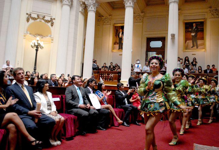 Condecoración de Congreso de la República a Caporales Centralistas por el título Campeón de Campeones   Fotografía: Unesco Perú