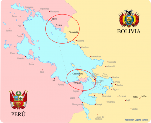 Mapa de Perú y Bolivia del origen del caporal | Caporal Mundial